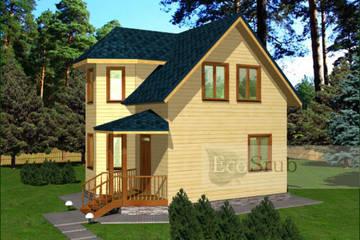 Дом из бруса 7.5x6 Д-34
