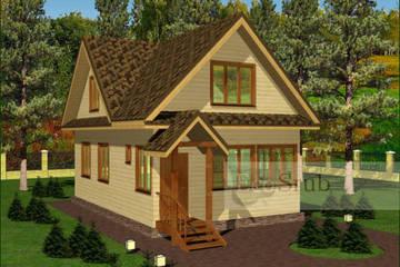 Дом из бруса 9x6 Д-37