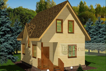 Дом из бруса 8x6 Д-17
