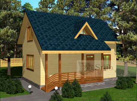 Дом из бруса 9x8.2 Д-24