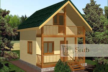Дом из бруса 6x5 Д-5