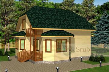 Дом из бруса 11x8 Д-35