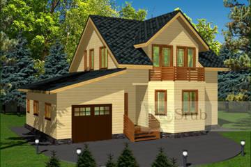 Дом из бруса 10x8 Д-13
