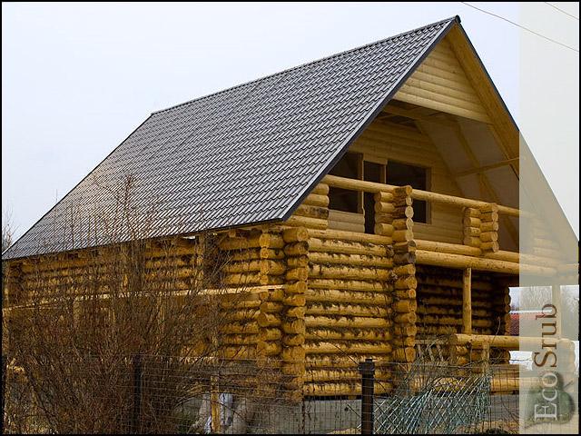 Пример построенного сруба дома