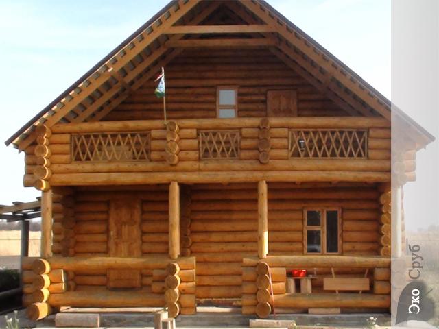 Готовый сруб двухэтажного дома