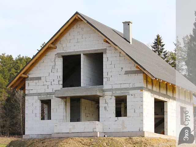 Недорогие дома своими руками из пеноблоков в 2 этажа