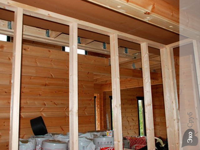 Как сделать межкомнатные перегородки в деревянном до