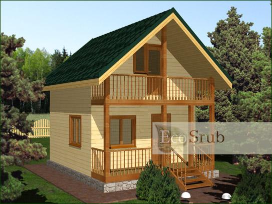 Как построить небольшой дом из бруса