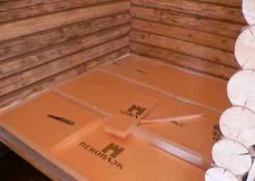 Утепление пола деревянного дома Пеноплексом
