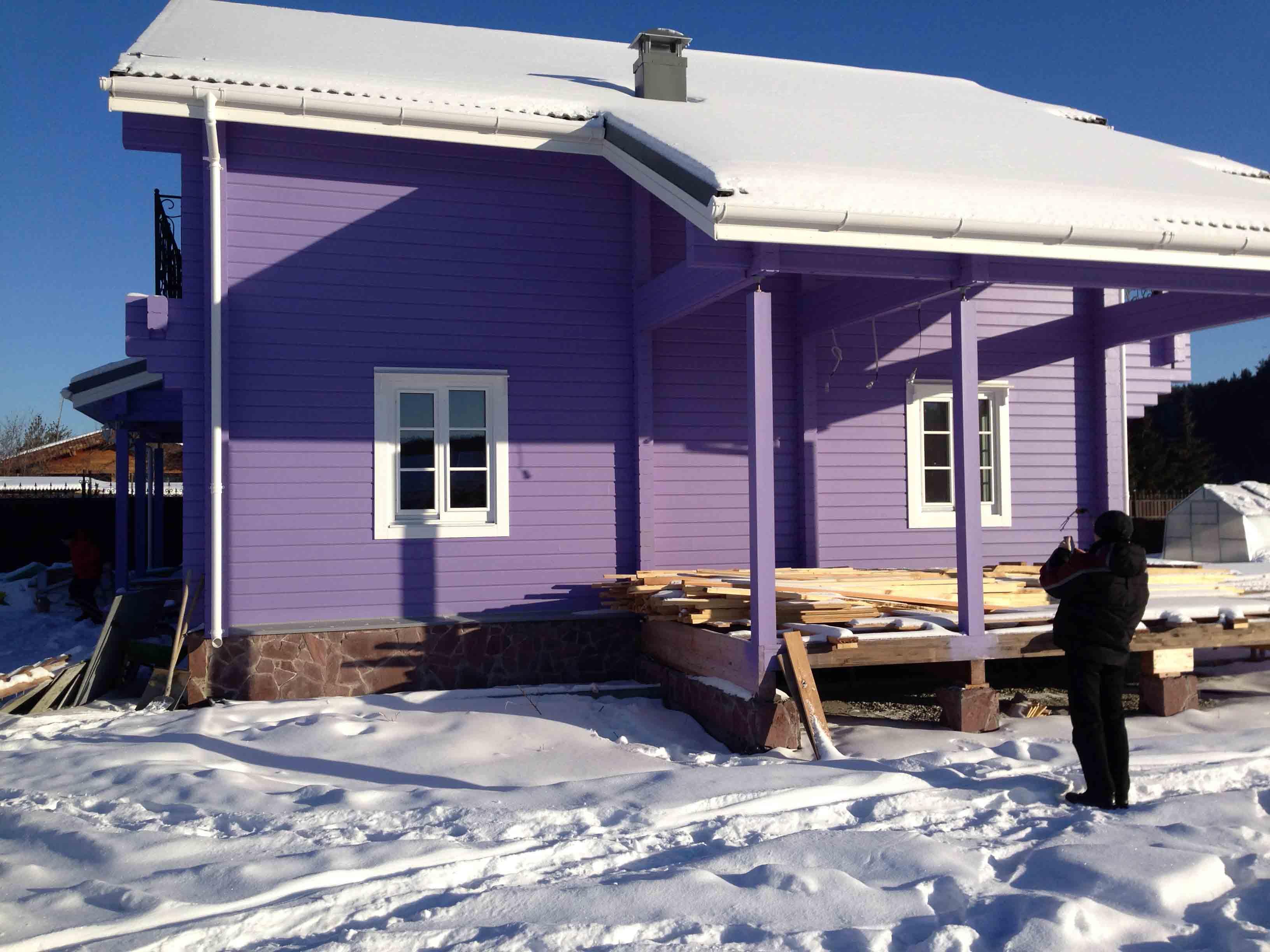 цветной фасад садовый домик фото